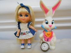 Little Kiddle alice in wonderland and white rabbit