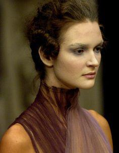 Polina Kasina at Alexander McQueen Spring 2007, 'Sarabande' Collection.