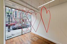 Valentines window by Sheridan