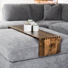 Wood Ottoman Tray Table