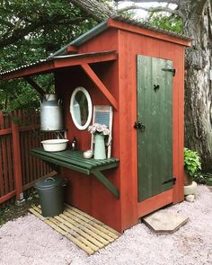 Yurt Living, Outside Living, Outdoor Living, Outhouse Bathroom, Outdoor Toilet, Garden Tool Shed, Outdoor Bathrooms, Hunting Cabin, Tool Sheds