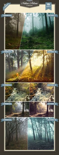 5 Free Nature Photoshop Actions * Easy to use. * The Real and the best effects for your photos/works. * With the best quality. * If you decide for my actions your work will ...
