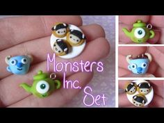 Monsters Inc. Teacup, Teapot & Cookies Tutorial: Polymer Clay