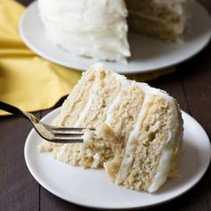 This moist and delicious gluten free lemon layer cake is so easy to make.