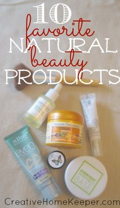 Want natural beauty products that not only work but are also pretty cheap too? Check out this list of one busy mom's top 10 FAVORITE natural beauty products, most can be found at the drugstore too making them even more convenient! No more running all over town to different health food stores!!!!