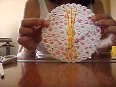 ▶ Pulsera plana con disco kumihimo redondo 6-6-13 - YouTube