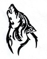 tribal howling wolf by silent-howl