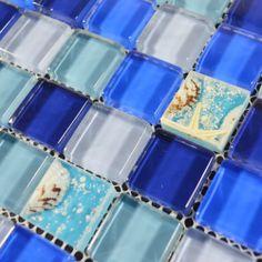 Crystal Glass mixed resin Tile Covering 1 sq.ft kitchen backsplash tile for & bath wall tile Mosaic Tile-GBT004 US $19.58