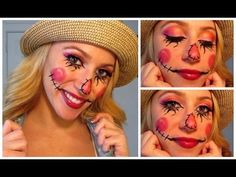 Sweet Scarecrow! Halloween Make Up Tutorial! - YouTube