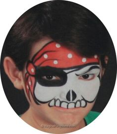 Nice pirate Face Painting