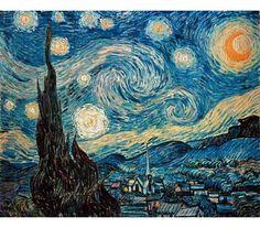 La nuit étoilée - Vincent van Gogh:http://www.toilepeintures.com/la-nuit-eacute-toil-eacute-e-vincent-van-gogh