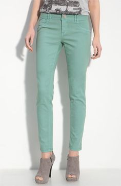 mint colored denim
