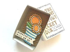 The Instant Comfort Pocket Box  - Sunny sunflawers