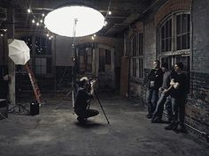 BTS of Shooting with rock band Leather Dust at this cool location in Hamilton, ON. And thanks to my buddy @denisduquette for the help. Good times! #bts #behindthescenes #famousbtsmag #iso1200 #betterwhenyoutether