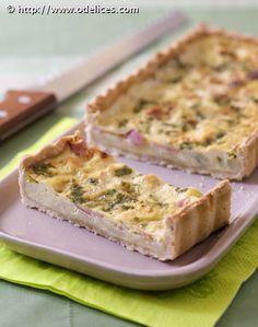 Quiche aux ravioles du Royans et jambon - Recettes de cuisine Ôdélices
