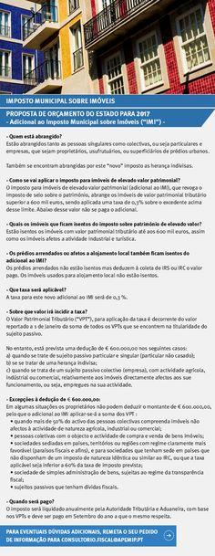 Adicional ao Imposto Municipal sobre Imóveis. Proposta de Orçamento do Estado para 2017. #imposto #imoveis #imobiliaria #portugal #gabinetejuridico #realestate #blog #news