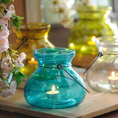 Glass Balloon Lanterns @ginger_k_wyatt they have these in clear at Kirklands if this is what you are looking for!