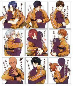 立海 Prince Of Tennis Anime, Anime Manga, Anime Art, Drawing Practice, Action Poses, Diabolik Lovers, Manga Games, Haikyuu, My Hero