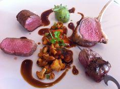 Lamb at Jean-Luc Tartarin, 2 star Michelin restaurant in Le Havre, Normandy, France