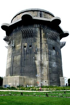 Nazi Flak tower. Used against allied aircraft in Europe. They had an air defense range of 14km and could put up 8,000 rounds in a minute!!!