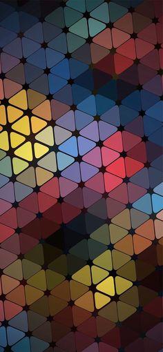Phone Wallpaper | Orange, Blue, Pattern, Tile, Line, Design