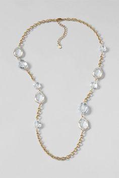 Women's Radiant Geo Stone Necklace