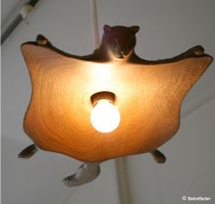 I wouldn't want this in my house, but it's a great conversation piece - flying squirrel lamp