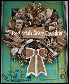SALE! Wedding Wreath, Wreath, Wedding, Wedding Decor, Country Wreath, Mesh Wreath, Unique Wreath, OOAK Wreath