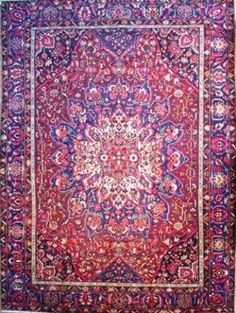 Blue And Red Oriental Rugs