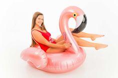 Rose Gold Flamingo - pool float - beach please