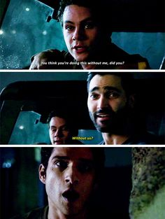 sterek surprising scott! scott's gasp is exactly how i felt. the ot3:) #teenwolf