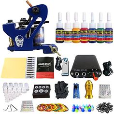 Blackseal Professional Complete Tattoo Kit 1 Top Machine Gun 7 Color Inks 20 Needles ** You can find more details by visiting the image link. (This is an affiliate link) #TattooSupplies