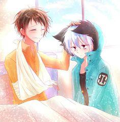 Shirota Mahiru and Kuro - Sleepy Ash