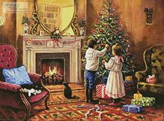 Christmas Interior - cross stitch pattern designed by Tereena Clarke. Category: Christmas.