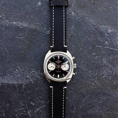 About this watch:  Fantastic Vintage Silgar Extra Reverse Panda Dial Mens Chronograph Watch, made in 1960s, also know as a Poormans Heuer Carrera 7753 NS  The watch uses a high quality manual mechanical winding Swiss Made Landeron 248 movement (also used in top quality Swiss Save The Pandas, Carrera, Chronograph, 1960s, Manual, Watches, Unique Jewelry, Handmade Gifts, Top