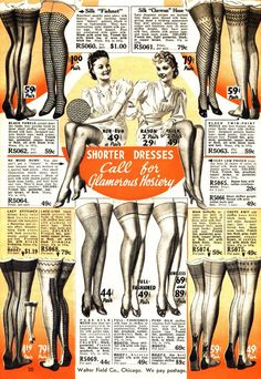 I didnt think stockings were this wild back in the day....