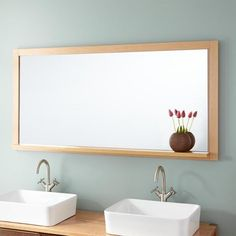 "59"" Mitchell Mirror - Red Oak"