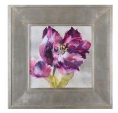 Uttermost Purple Flourish Floral Art 41329