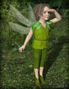 Fairy Boy for K4 is a uniform/costume, clothing, fairies & elves for The Kids 4 for Daz Studio or Poser created by Esha.