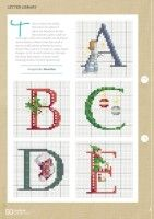 Gallery.ru / Фото #51 - CrossStitcher 311 - tymannost Christmas Cross Stitch Alphabet, Xmas Cross Stitch, Cross Stitch Letters, Needlepoint, Christmas Crafts, Christmas Ideas, Fun Crafts, Stitch Patterns, Needlework