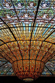 Art Nouveau ... Palau de la Musica Catalana Barcelona.....amazing space, so beautiful