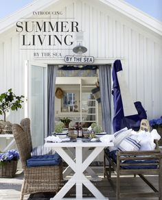 Introducing Summer Living By the Sea. Introducing Summer Living By the Sea. Beach Cottage Decor, Coastal Cottage, Coastal Homes, Coastal Style, Coastal Living, Coastal Decor, Cottage Rugs, Coastal Curtains, Coastal Bedding