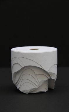 Rolls of Paper Sculpted Into Crisp, Lovely, Abstract Forms   Jeannie Huang