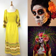 Day of the Dead Mood Board - Spooky Halloween Makeup - Mexico Day of the Dead Costume