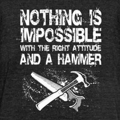 Woodworker - nothing is impossible with the righ - Unisex Tri-Blend T-Shirt by American Apparel