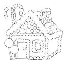 So Cute Christmas Gingerbread House Coloring Page