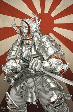 Silver Samurai by Mark Brooks ✤ || CHARACTER DESIGN REFERENCES | キャラクターデザイン • Find more at https://www.facebook.com/CharacterDesignReferences if you're looking for: #lineart #art #character #design #illustration #expressions #best #animation #drawing #archive #library #reference #anatomy #traditional #sketch #development #artist #pose #settei #gestures #how #to #tutorial #comics #conceptart #modelsheet #cartoon #clothes #swordman #asian #samurai #ronin #japanese || ✤
