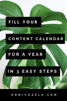 This 3-step recipe to fill your content calendar with a YEAR's worth of post ideas could not be simpler! Whether you're a blogger, a podcaster, a YouTuber, or any other type of content creater, this post will help you generate more ideas than you know wha Social Media Content, Social Media Tips, Content Marketing Strategy, Email Marketing, Affiliate Marketing, Digital Marketing, Blog Topics, Blogging For Beginners, How To Start A Blog