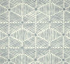 Chambray Blue Tribal Thatch Home Decor Fabric by the Yard Designer Drapery or Upholstery Fabric Neutral Chambray Blue Tribal Fabric B218