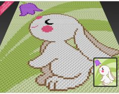 Sleeping Bear c2c graph crochet pattern instant by TwoMagicPixels